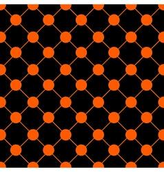Orange polka dot chess board grid black vector