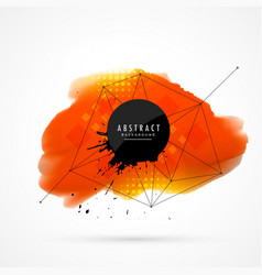 Orange watercolor background vector