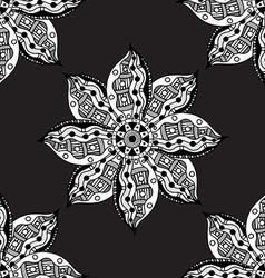 Oriental monochrome ornament vector image vector image