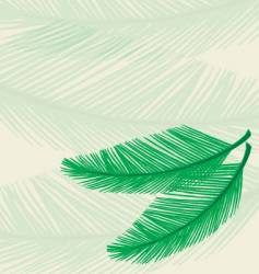plam leaf background vector image