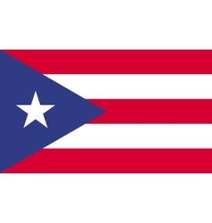 Puerto rico flag image vector