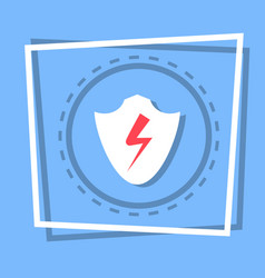 Shield icon data protection web button vector