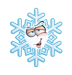 Snowflake emoticon hey you vector