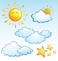 summer weather vector image vector image