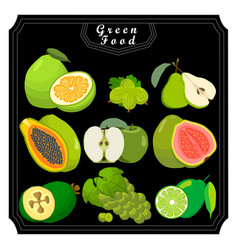 the green fruits vector image