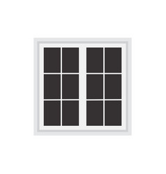 window frame isolated on white background vector image vector image