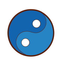 Yin yang symbol isolated icon vector