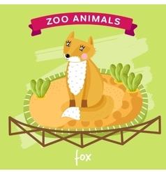 Zoo animal fox vector