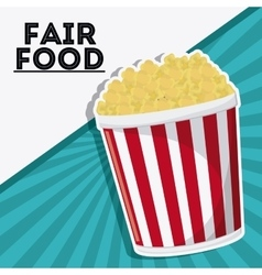 Pop corn fair food snack carnival icon vector