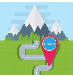 travel map point vector image