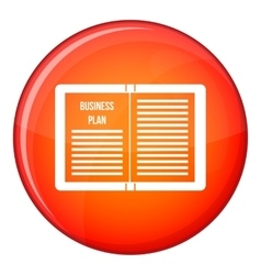 Business strategy plan icon flat style vector