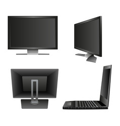Set computer monitor notebook vector