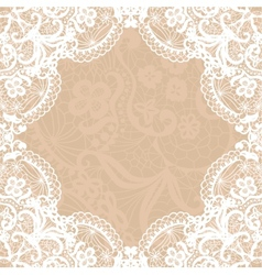Vintage lace invitation card vector