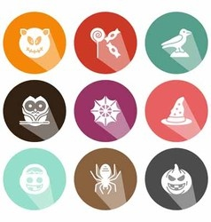 Solid icons celebration halloween shadow vector