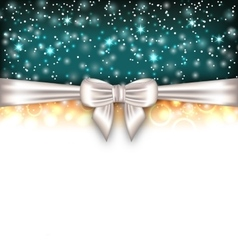 Glowing luxury background with bow ribbon vector