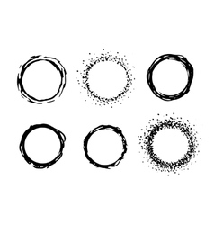 Paint circle frames set vector