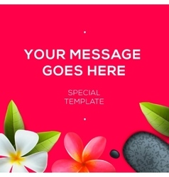 Health and beauty template spa concept vector