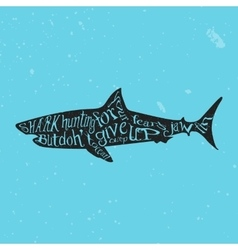 Typography lettering shark vector
