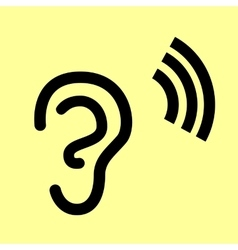 Human ear sign vector