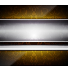 Glass and metal abstract vector image