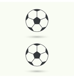 Icon soccer ball vector