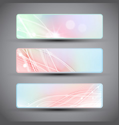 abstract banners set vector image