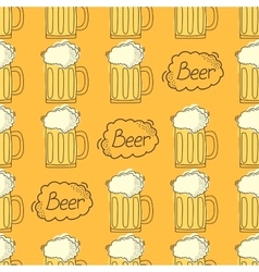 beer pattern Cartoon style vector image vector image