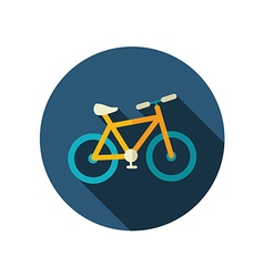 Bicycle flat icon summer vacation vector