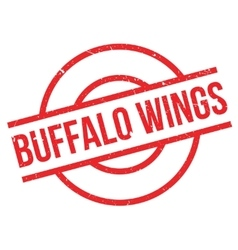 Buffalo Wings rubber stamp vector image