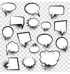 comic empty text speech bubble 25 vector image vector image