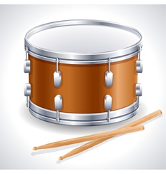 drum and drumsticks vector image