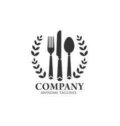 eat logo with vintage and classy style vector image