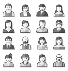 Flat avatar icons faces people vector image vector image