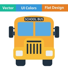 Flat design icon of School bus vector image vector image