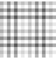 Gray check seamless fabric texture vector image vector image