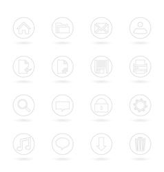 Gray Web Icons vector image