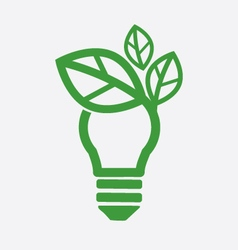 Green Concept Light Bulb vector image vector image