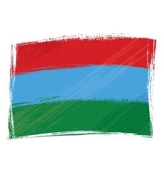 Grunge karelia flag vector