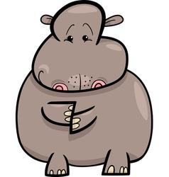 Hippo or Hippopotamus Cartoon vector image