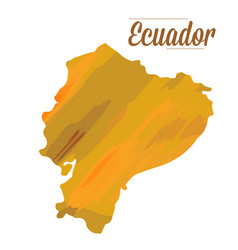 isolated ecuador map vector image vector image