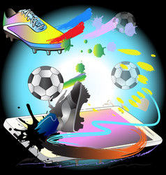 Kick off football action with phon technology vector