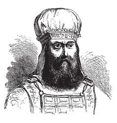 Mitre or sacred turban vintage engraving vector