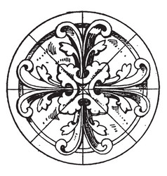 Modern circular panel is a early gothic design vector