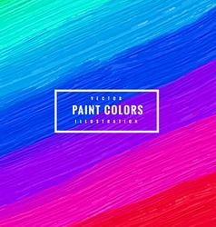 Multi color paint strokes background vector
