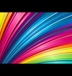 rainbow fan background vector image vector image