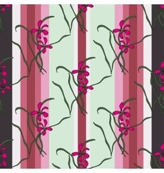 Seamless pattern with sacura spring cherry vector image