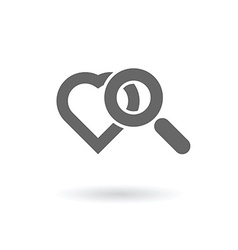 searching for love icon vector image vector image