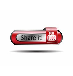 Share it youtube online button vector