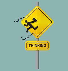 Sign of businessman thinking out of the box vector image vector image