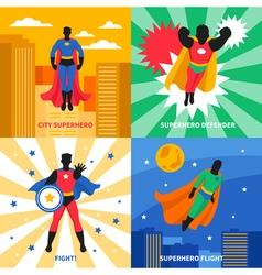 Superhero 2x2 design concept vector